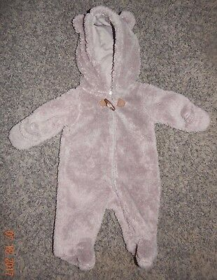 Newborn Size--Carters Brand Gray Bunting--Excellent Condition
