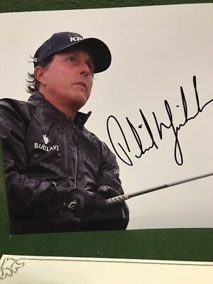 Phil Mickelson 8 X 10 Color Autographed Photo W/COA