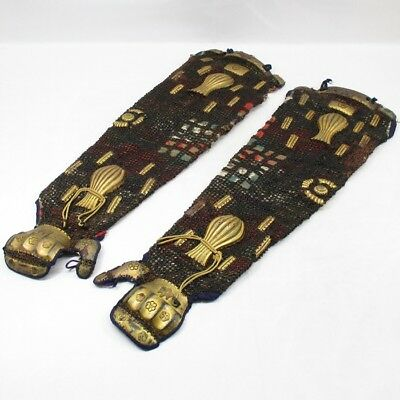 D994: REAL old high-class Japanese arm guard KOTE of SAMURAI armor in 1700's