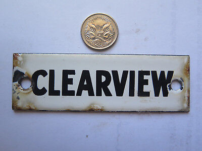 VERY SMALL ENAMEL SIGN CLEARVIEW c1940s ORIGINAL SIGN POST OFFICE SORTING CENTRE