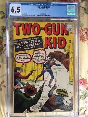 Two Gun Kid 58 Cgc 6.5 White Pages Jack Kirby Monster Western Cover. Glossy!!