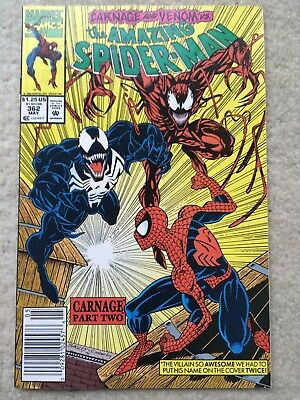 Amazing Spider-Man #362 *2nd Carnage! Venom Appearance. Classic Cover*