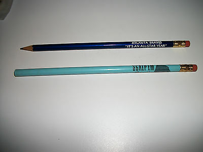 Lot of 2: Vintage 1972 Atlanta Braves All-Star Year Scorebook Pencils Scalp 'em