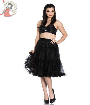 Hell Bunny Polly ANNI 50 stile rockabilly Jive LUNGHE NERE Sottoveste