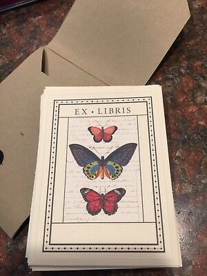 EX LIBRIS Butterfly bookplates 18 Count