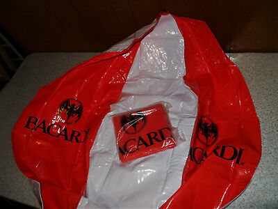 Lot of 2 Bacardi Bat Huge Blow Up Inflateable Beach Balls Store Displays