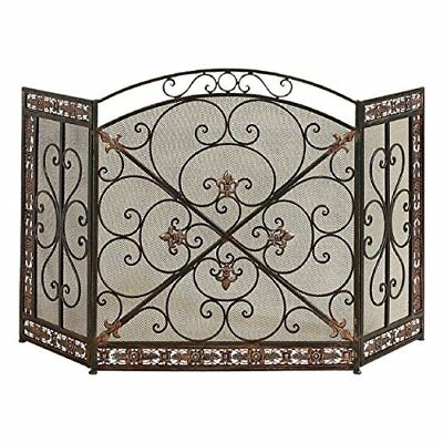 Deco 79 71822 Metal Fire Screen Fireplace Screens Doors Fireplaces Stoves Air
