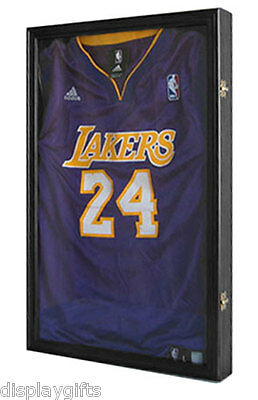 Basketball, Small/Junior size Football Jersey Display Case  Wall Frame JC03-BLA