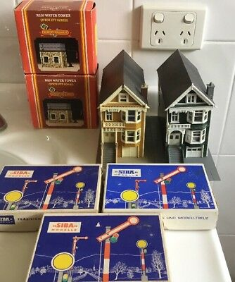 7 Piece Train Accessories Siba French 402 Halle Signals Water towers Hornby R520