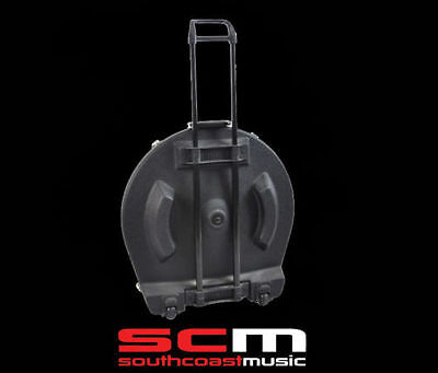 "Premium 22"" Cymbal Safe Case Caddy Heavy Duty Abs Wheels & Retractable Handle"