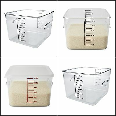 Rubbermaid Commercial Space Saving Food Storage Container 12 Quart Kitchen Tools