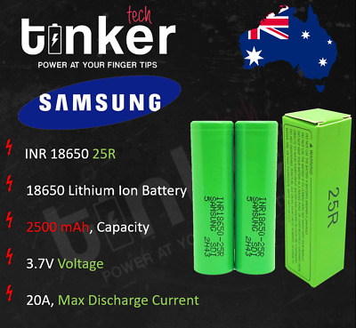 Samsung 18650 2500mAh 25R Lithium Rechargeable Battery INR18650-25R VAP E-Cig