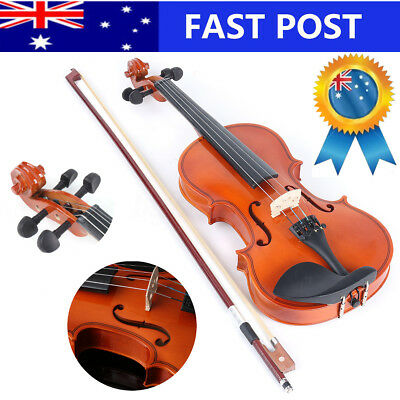 1/2 FULL SIZE WOODEN VIOLIN CASE BOW INSTRUMENT STRINGS BEGINNERS New Year Gifts