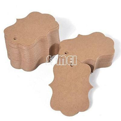100PCs 50x70mm Kraft Label Tag Clothes Jewelry Gift Shoes Price Tags Blank