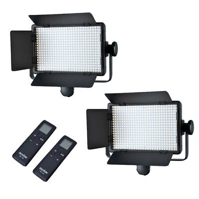 2X Godox LED500C LED500 3300K-5600K 504PCS LED Video Light Lamp Panel + Remote