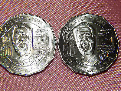 2017 Eddie Mabo Pride and the Passion 2 x 50c coins (in cardboard 2 x 2's)