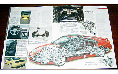 Nissan 300ZX Fold-out Poster + Cutaway drawing
