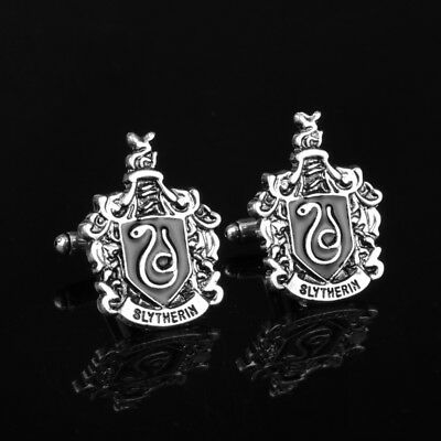 Black And Silver Harry Potter Slytherin Quality Cufflinks Mens Wedding Gift