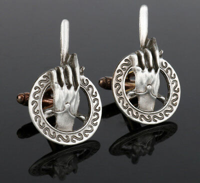 Silver Game Of Thrones Hand Of The King Quality Cufflinks Mens Wedding Gift
