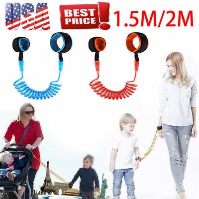 Baby Kid Child Safety Anti-Lost Band Harness Strap Wrist Leash Walking 1.5/2M