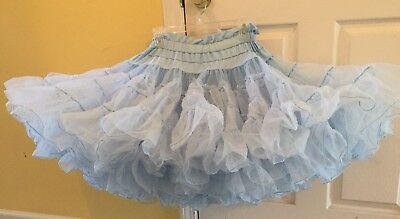 Square Dance Baby Blue Petticoat-One Size Fits Most
