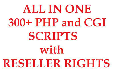 ALL IN ONE 300+ PHP AND CGI SCRIPTS PACKAGE - 300+ Scripts Resell Rights!