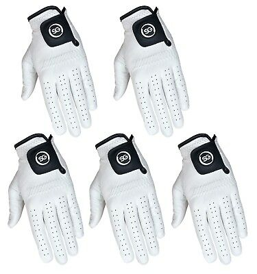 SG White Ladies Men Golf Gloves Premium quality Cabretta Leather MLH & MRH S-XXL