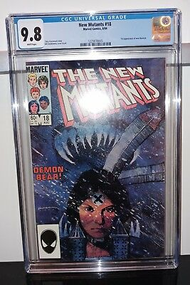 New Mutants #18 - CGC 9.8 White Pages - 1st New Warlock Appearance