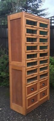 Superb  Oak 20-Drawer Haberdashery Shop Display Cabinet-2 Man Delivery Available
