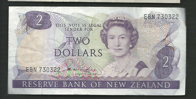 New Zealand 1981-85 2 Dollars P 170a Circulated