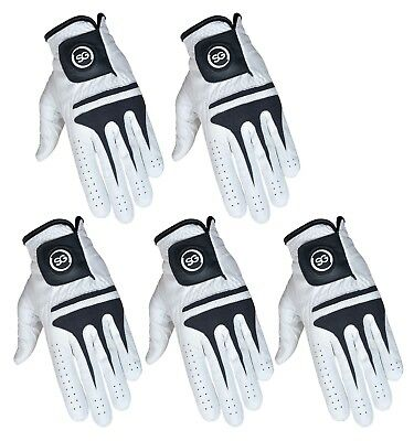 """SG"" Men Cabretta Leather golf gloves MLH & MRH Fantastic value pack of 5 gloves"