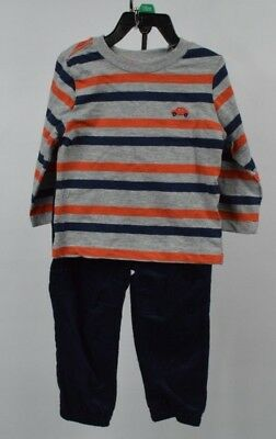 Little Me Toddler Boys 2 Piece Set Long Sleeve Tee and Cord Pants Size 18M NWT