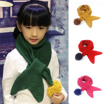 Newborn Kids Baby Boys Girls Fur Pom Winter Warm Knit Scarf Neckerchief Scarves