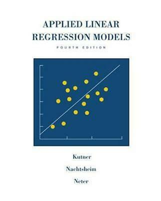 NEW Applied Linear Regression Models Revised Edition With Student Cd-Rom By Mich