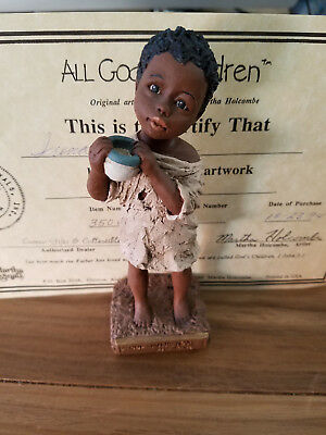 All God's Children Collectible Figurine NAKIA 3500 1 Yr Limited Edition Holcombe