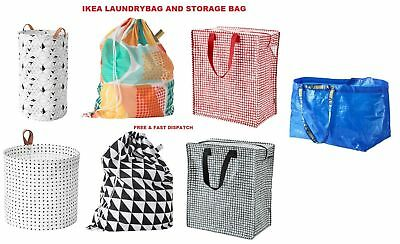 Ikea Laundry Storage Bag Shopping Bags Zipped Strong Jumbo Large Laundry Bag