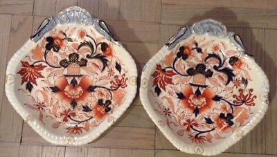 Pair of John Denton BAXTER CELTIC CHINA ANTIQUE PLATES IMARI STYLE