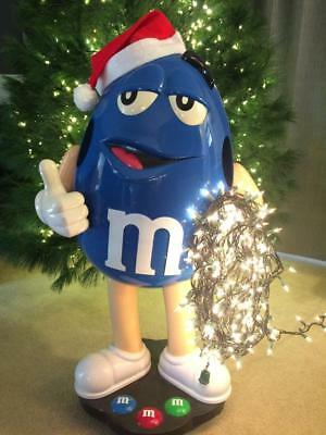 """RARE Blue Peanut M&M Candy Store Display 40"""" HUGE! Collectible!"""