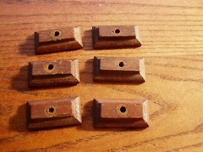 "6--wood cabinet 1 5/8"" turn button latches Jelly cupboard old vintage 1800's"