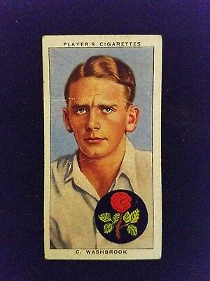 1938 John Player & Sons Cricketers # 30   C. Washbrook, Lancashire and England