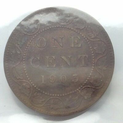 1903 Canada One 1 Cent Large Copper Penny ICCS Extra Fine 45 Graded Coin C784