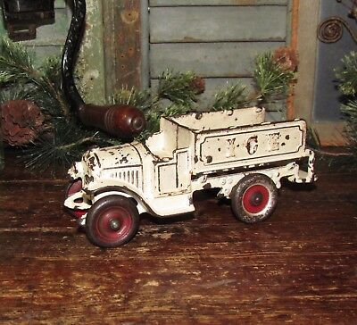 Original Antique Vtg 1920's Cast Iron KENTON TOYS Ice Delivery Truck Gift Idea