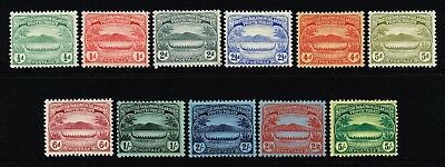 British Solomon Islands 1908-11 canoe set to 5s., MH (SG#8/17)