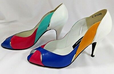 STUART WEITZMAN for Martinique Vintage White 80s Pumps Heels 7.5 Color