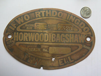 Copper Sign Horwood Bagshaw Farm Machinery If Worth Doing Do It Well 1950 Sa