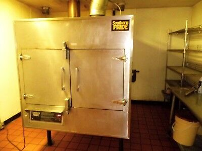 Commercial Bbq Smoker.southern Pride Rotisserie Model Spk-500 W/smoke Extractor