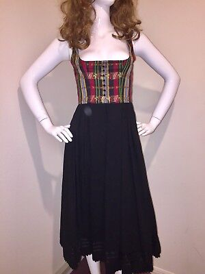 Authentic German Dirndl Ecke Holiday Christmas Dress Indra-Munchen (Euro 36) S