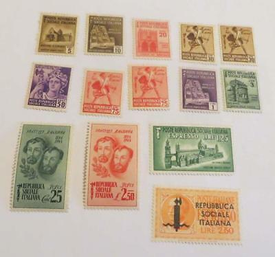 Italy Social Republic 1944 small collection unused