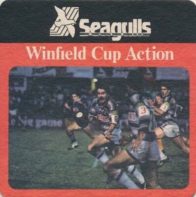Coaster. Seagulls. Winfield Cup Action.