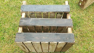 "3 Old Wooden Farm Boxes Labelled Gee Tee Bulb Co. apr 24 x 18 x 7""  Coll PE7"